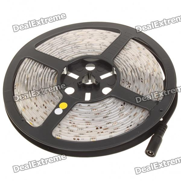 27W 1800LM 3500K 150-5050 SMD LED Warm White Light Strip w/ AC Power Adapter (5M-Length/DC 12V)