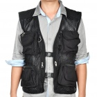 Multi-Function Mesh Fishing/Photography Vest - Black