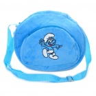 The Smurfs Pattern One Shoulder Bag for Children - Blue