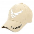 Embroidered US Air Force Pattern Cotton Fabric Baseball Hat/Cap (Random Color)