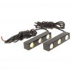 12W 7000K 660-Lumen 6-LED White Eagle Eye Fog/Braking Light Strips (DC 12~14/Pair)