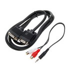 Component Video to VGA Adapter with PC Sharing for PSP 2000/PS3/Wii/Xbox/DVD