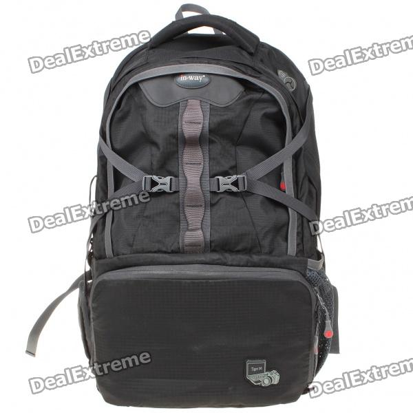 Fashion Rucksack Double-Shoulder Bag - Black