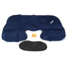 3-in-1 Inflatable Pillow + Sleeping Eyeshade + Earplug Travel Set - Black + Yellow