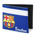 Football / Soccer Club Team Double-Fold PU Leather Wallet - Barcelona