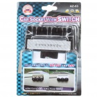 1-to-3 Car Cigarette Lighter Sockets Power Adapter Splitter w/ Individual Switch- Black (DC 12~24V)