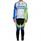 2011 Liquigas Team Long Sleeve Cycling Bicycle Bike Riding Suit Jersey + Pants Set (Size-XXL)