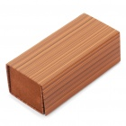 Unique Faux Wood Grain Paperboard + Leather Glasses Box Case - Brown (Big Size)