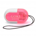 Mini Bean Shaped 2-in-1 TF Card Reader + Micro USB Handy-Ladekabel - Deep Pink