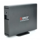 "ORICO 7619SUS3 Aluminum Alloy eSATA/USB 3.0 3.5"" SATA External HDD Enclosure - Black"
