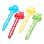 Cute Android Style Cable Cord Holder Wire Winder - 4 Pieces/Pack
