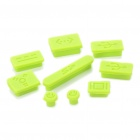 Anti-Dust Plug Kit for MacBook Air/Pro - Green (9-Piece Pack)
