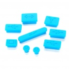 Anti-Dust Plug Kit for MacBook Air/Pro - Blue (9-Piece Pack)