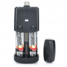 2xAA Powered Cell Phone Emergency Charger - Black