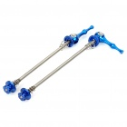 Bicycle Bike Aluminum Alloy Quick Release Skewers - Blue (Pair)