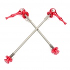 Buy Bicycle Bike Aluminum Alloy Quick Release Skewers - Red (Pair)