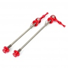 Bicycle Bike Aluminum Alloy Quick Release Skewers - Red (Pair)