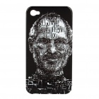 Remembering Steve Jobs Protective Kunststoff zurück Fall für iPhone 4 - Black + White