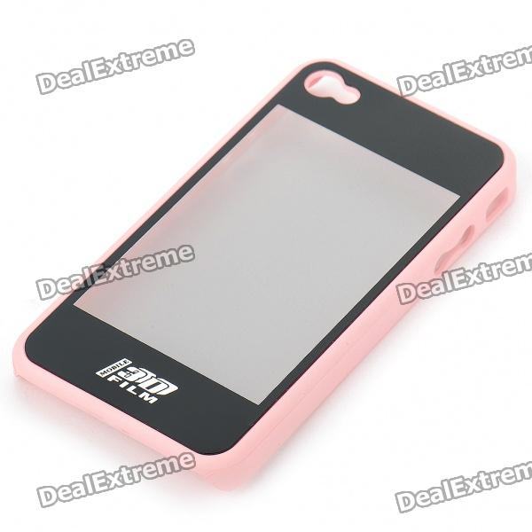Dual-Use 3D Movie Viewer Case + Protective Back Case for Iphone 4 (Pink + Black) от DX.com INT