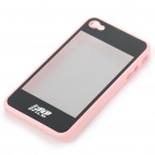 Dual-Use 3D Movie Viewer Case + Protective Back Case for iPhone 4 (Pink + Black)