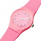Fashionable Decoration Water Proof Wrist Watch -Pink