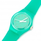 Fashionable Decoration Water Proof Silicone Wrist Watch - Green (1 x 377)