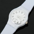 Fashionable Decoration Water Proof Wrist Watch - White