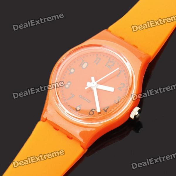 Fashionable Decoration Water Proof Wrist Watch - Orange
