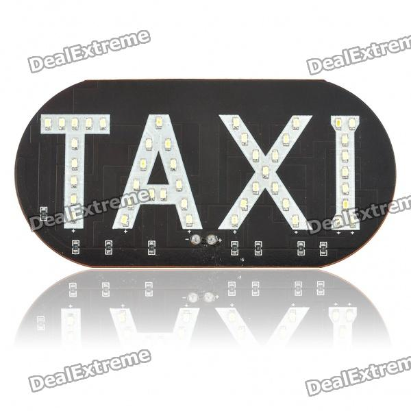 TAXI Car Decorative 45-LED White Light (12V)