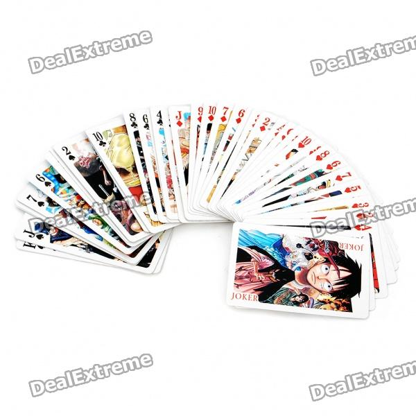 One Piece Figures Pattern Papier Spielkarten Poker Set (54-teilig)