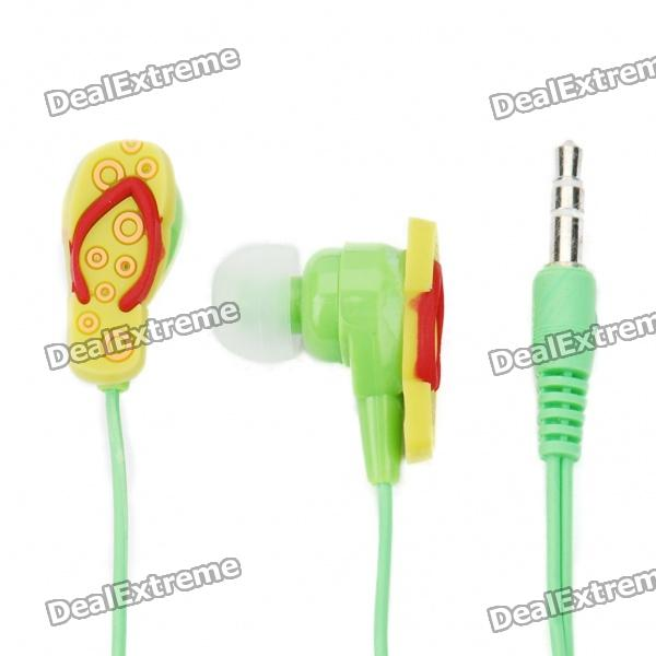 3,5 mm In-Ear-Stereo-Ohrhörer Slipper Stil - Grün
