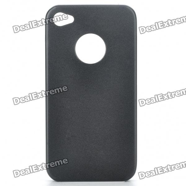 Protective Aluminum Alloy Back Case for Iphone 4S - Black