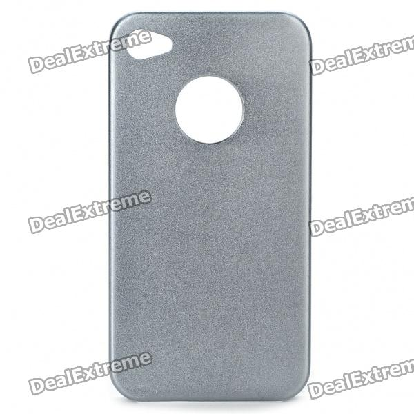 Protective Aluminum Alloy Back Case for iPhone 4S - Grey