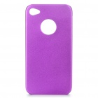 Protective Aluminum Alloy Back Case for Iphone 4S - Purple