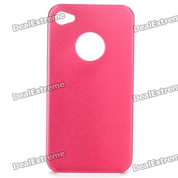 Protective Aluminum Alloy zurück Fall für iPhone 4S - Red
