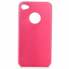 Protective Aluminum Alloy Back Case for Iphone 4S - Red