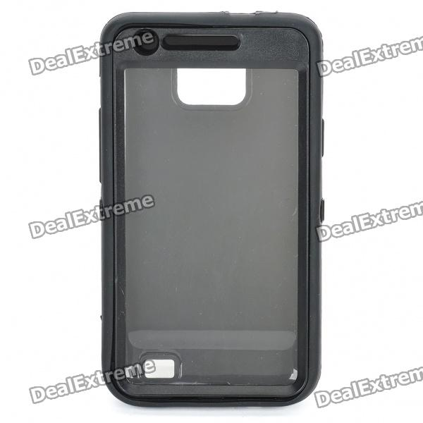 Protective Housing Case for Samsung i9100 Galaxy S2 - Black protective pvc back case for samsung galaxy s ii i9100 black