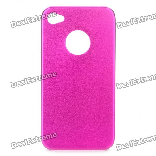 Protective Aluminum Alloy Back Case for Iphone 4S - Deep Pink protective silicone pc back case for iphone 4 4s black deep pink
