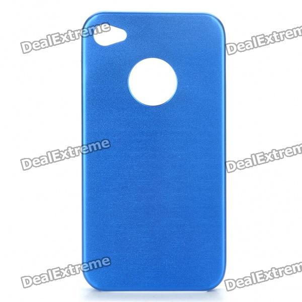 Protective Aluminum Alloy Back Case for Iphone 4S - Blue