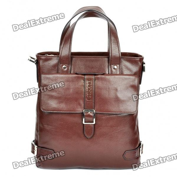 Genuine P. Kuone Cow Leather One Shoulder Bag