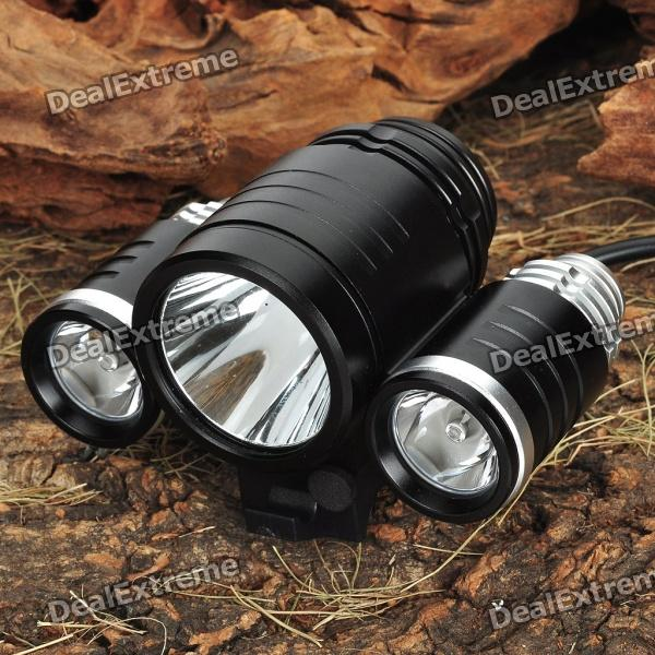 TrustFire 3-Mode 1800-Lumen 3-LED White Bike Light w/ Batteries PackBike Lights<br>Model:Form  ColorWhiteEmitter BrandCreeEmitter BINT6,R2Number of Emitters1,2,3,4,5,6,7,8,9,10Color BINWhiteCurrentOutputRuntime:Number of Modes1Mode MemoryNoLensGlassReflectorAluminum Smooth,NoPacking List<br>