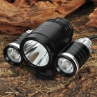 TrustFire CREE XML-T6 + XPE-R2 3-Mode 1800-Lumen 3-LED White Bike Light w/ Batteries Pack