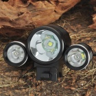 TrustFire 3-Mode 1800-Lumen 3-LED White Bike Light w/ Batteries Pack