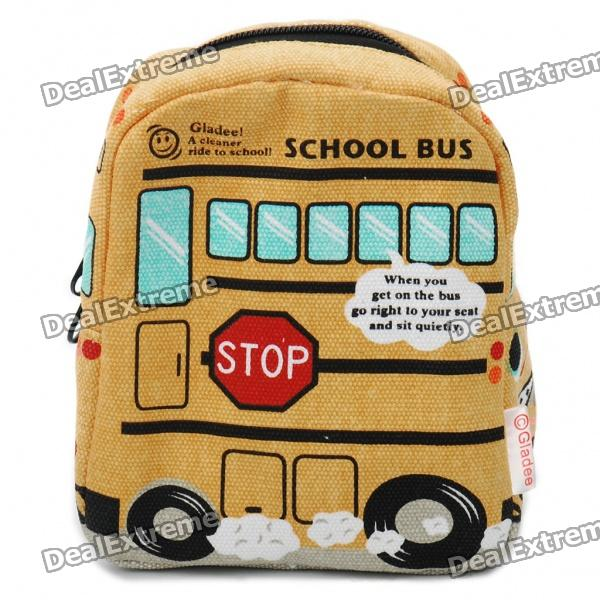 Mini School Bus Style Heat Preservation Bag - Yellow