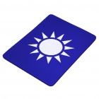 KMT Party Flag Pattern Nature Rubber Mouse Pad Mat - Blue + White