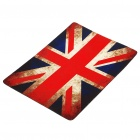 UK Flag Pattern Nature Rubber Mouse Pad Mat - Rot + Blau