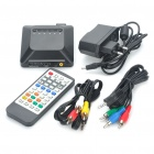Full HD 1080P Media Player w/ HDMI/YUV/AV/USB/SD/MMC - Black