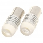 1156 4W 6500K 120-Lumen Car Parking/Turning Signal White Light Bulbs w/ Concave Lens (Pair/12~24V)