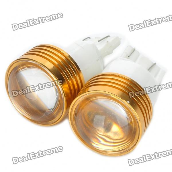 T20 4W 6500K 120-Lumen 2-5050 SMD LED White Light Car Reversing Lamps (DC 12V/Pair) l20121211 1 h7 12w 600lm 6500k 4 smd 7060 led white light car dipped headlight dc 12v