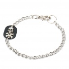 Skull Head Style Decoration Metal Waist Chain - Black + Silver